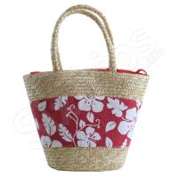 Кошница за плажа в червено и бяло