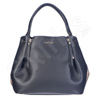 Черна дамска чанта с уникален дизайн Puccini