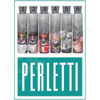 Черен дамски чадър с животни Perletti