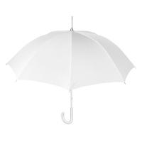 Елегантен голям бял дамски сватбен чадър Perletti