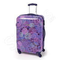 Лилав дамски куфар с елементи Gabol Spice 87л