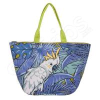 Лятна плажна чанта с папагал в синьо HatYou