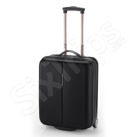 Черен твърд куфар с две колела 53см