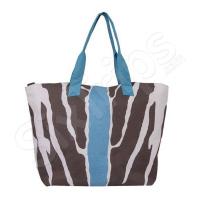 Чанта за лятото на плажа в синьо и кафяво