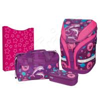 Комплект раница, сак, несесер и кутия в лилаво Ocean