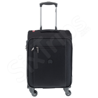 Черен куфар с четири колела Delsey 55см.