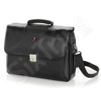 Бизнес чанта в черно District 15.6