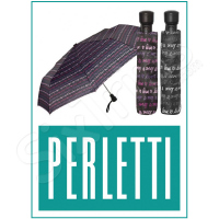 Дамски чадър в черно Perletti