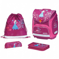 Розова раница с два несесера и торба Flower Princess