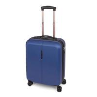Син малък куфар с четири колела Paradise 55см