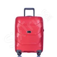 Твърд куфар за ръчен багаж 55см Puccini Miami, червен