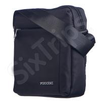 Черна чанта за през рамото с преден и заден джоб Puccini 24см