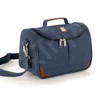 Синя козметична чанта Siena, еко кожа