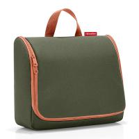 Чанта за тоалетни принадлежности за път със закачалка Reisenthel Toiletbag XL в тъмнозелено