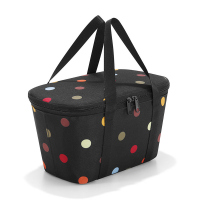 Черна хладилна чанта Reisenthel Coolerbag XS с дизайн на точки