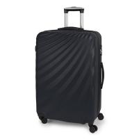 Сив голям твърд куфар на четири колела Gabol Royal 77см