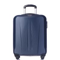 Стилен твърд куфар 55см за ръчен багаж Puccini Paris в тъмносин цвят