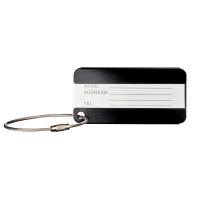 Алуминиев етикет за багаж в черно Wenger Aluminum Luggage Tag