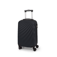 Малък черен куфар Gabol Royal 57см ABS пластмаса