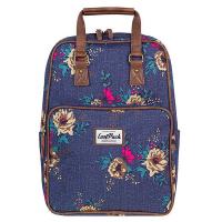 Тъмносиня свежа раница и чанта CoolPack Cubic Denim Flowers