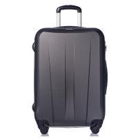 Тъмносив твърд куфар среден размер на четири колела Puccini Paris 67см