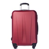 Изискан червен твърд куфар среден размер Puccini Paris 67см