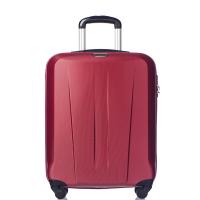 Червен твърд куфар 55см за ръчен багаж Puccini Paris