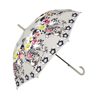 Дамски автоматичен чадър на червени цветя Perletti Chic, дизайн 1