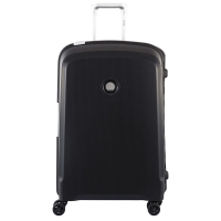 Голям черен куфар Delsey Belfort в стилен черен цвят 82см