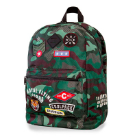 Камуфлажна раница CoolPack Dart Cross Camo Green Badges 42см