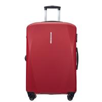 Куфар в червено среден размер на четири двойни колела Puccini Singapore, поликарбонат