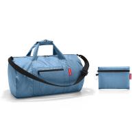 Портативен сгъваем сак за багаж Reisenthel Mini maxi dufflebag в светлосиньо