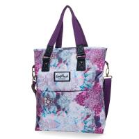 Удобна дамска чанта в тъмнолилаво CoolPack Amber Dream Clouds