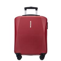 Червен куфар за ръчен багаж на четири двойни колела Puccini Singapore, поликарбонат
