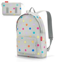Сива раница за път сгъваема Reisenthel Mini maxi rucksack с дизайн на точки
