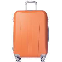 Свеж оранжев твърд куфар 102 литра Puccini Paris
