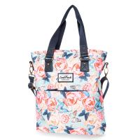 Дамска ежедневна чанта за на цветя и пеперуди CoolPack Amber Butterflies, небесносиня