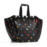 Удобна чанта за пазар Reisenthel Easyshoppingbag в черно на точки