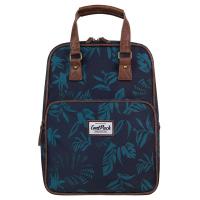 Тъмносиня раница и чанта с флорални елемнти CoolPack Cubic Blue Dusk