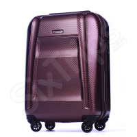 Твърд куфар 55см Puccini New York с модерен дизайн, червено вино