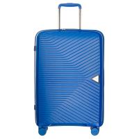 Куфар среден размер 64см в синьо на четири колела Puccini Denver