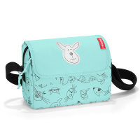 Детска чантичка Reisenthel Everydaybag Kids Cats and dogs, цвят роза