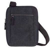 Удобна черна чанта за през рамо CooPack Snow Black / Silver
