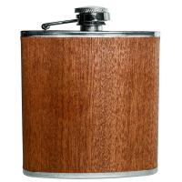 Комплект бутилка за алкохол Vin Bouquet с дървена облицовка и фуния