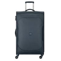 Изискан тъмносив текстилен куфар Delsey U-Lite classic 2, 79см