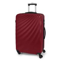 Червен голям твърд куфар на четири колела Gabol Royal 77см