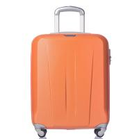 Твърд куфар 55см в свеж оранжев цвят за ръчен багаж Puccini Paris
