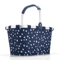 Тъмносиня чанта за пазаруване с дизайн на точки Reisenthel Carrybag
