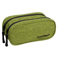 Зелен несесер с две отделения CoolPack Clever Lime / Silver