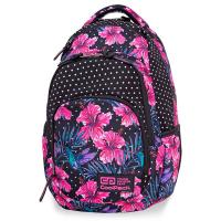 Раница с модерен дизайн в черно и розово CoolPack Vance Blossoms